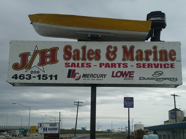 used boats jh sales and marine sign